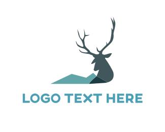 Moose - Wild Reindeer logo design