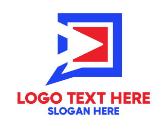 Video - Video Player Talk logo design