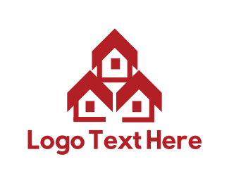 Tradesman - Red Houses logo design