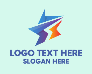 Advertising Agency - Modern Business Star  logo design