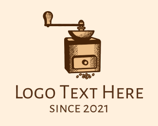 Handcrafted - Classic Coffee Grinder  logo design