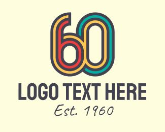 Calendar - Retro 60s logo design
