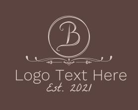 Beauty - Minimalist Vintage Letter B logo design