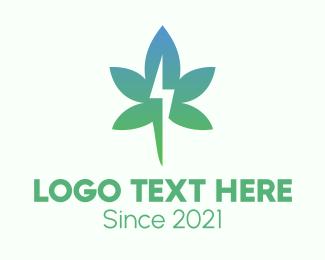 Medical Marijuana - Gradient Flash Cannabis logo design