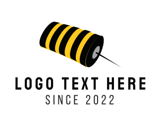 Stinger - Bee Pin logo design