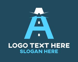 Spotlight - Beacon Letter A logo design