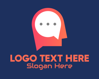 Artificial Intelligence - Mind Message App logo design