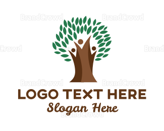 Parenting - Thick Branch Tree logo design
