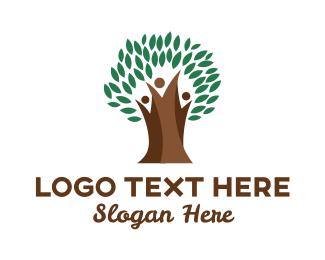 Tree - Thick Tree Trunk logo design