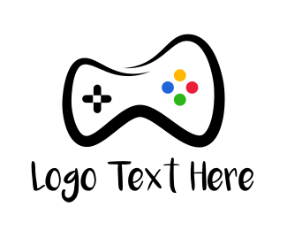Team Emblem - Controller Drawing logo design