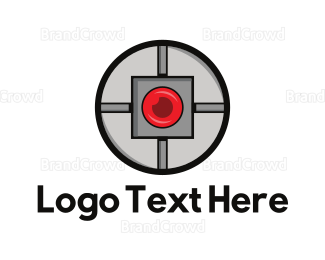 View -  Spy Camera logo design