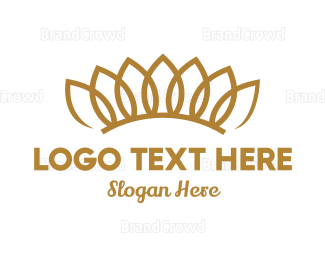Fortune - Floral Crown logo design