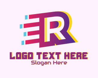 Speedy - Speedy Letter R Motion  logo design