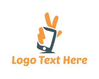 Smartphone - Peace Application logo design