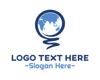 Foreign - Indian Ocean Map logo design