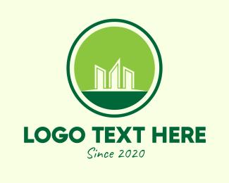 Condominium - Green Eco Condominium logo design