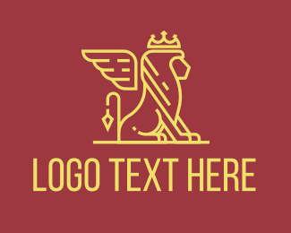 Financial Advisor - Monoline Luxury Lion logo design