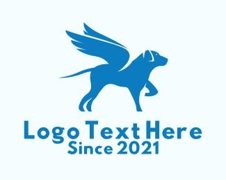 Animal Adoption - Blue Winged Dog  logo design