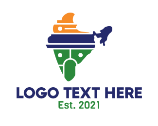 Travel - Abstract India logo design