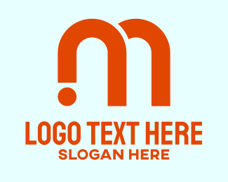 Warehouse - Orange Industrial Letter M  logo design