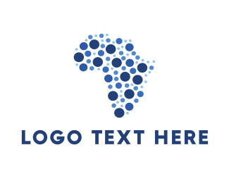 Locater - African Dots logo design