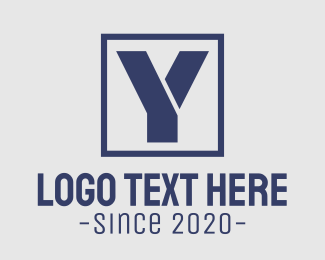 Initial - Boxed Tech Y logo design