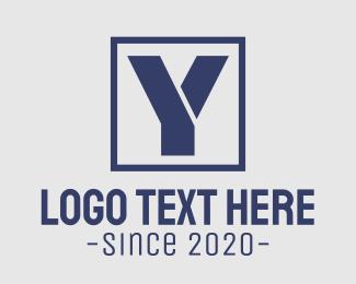 Brand - Blue Corporate Letter Y logo design