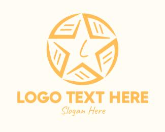 Sport Equipment - Yellow Star Ball Lettermark logo design