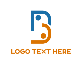 Dots - B & Dots logo design