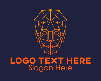 Id - Human Face Facial Recognition logo design