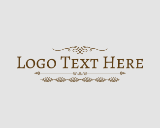 Ornament - Rustic Ornament Text logo design