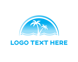 Island - Blue Sea logo design