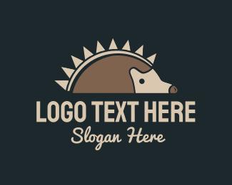 Thorn - Porcupine Hedgehog logo design