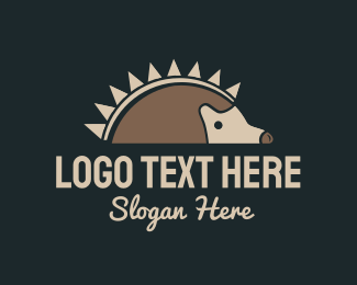 Thorn - Porcupine Food logo design
