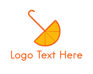 Weather - Orange Umbrella logo design