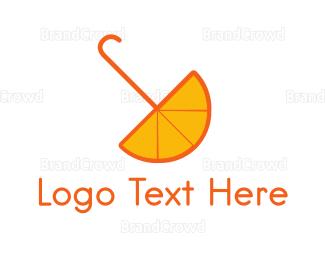 Umbrella - Orange Umbrella logo design