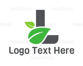 Meditation - Leaf Letter L logo design