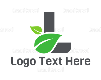 Therapeutic - Leaf Letter L logo design