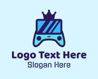 Twitch - King Controller Crown logo design