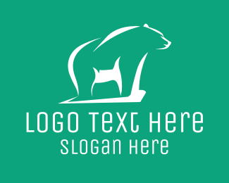 Forest Animal - Grizzly Bear Outline logo design