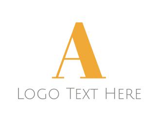 Lawyer - Golden A logo design
