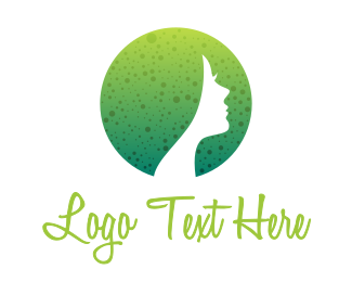 Female - Round Dotted Female logo design