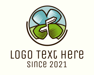 Travelling - Lucky Tourist logo design