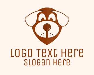 Pet Groomer - Dog Location Pin logo design