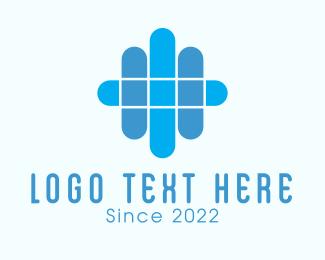 Bandage - Blue Abstract Bandage logo design