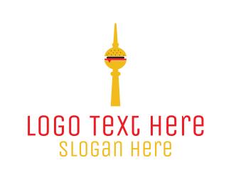 Burger Bar - Burger Tower logo design