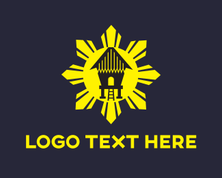 Filipino - Sun House logo design
