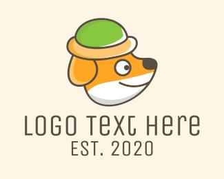 Sleepy - Cute Puppy Hat logo design