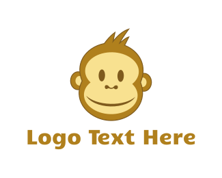 Orangutan - Smiling Monkey logo design