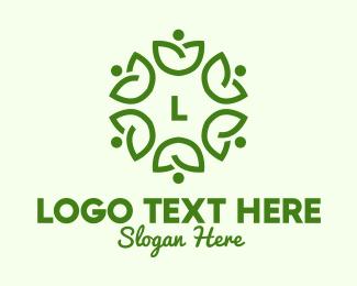 """""""Community Leaf Lettermark"""" by royallogo"""